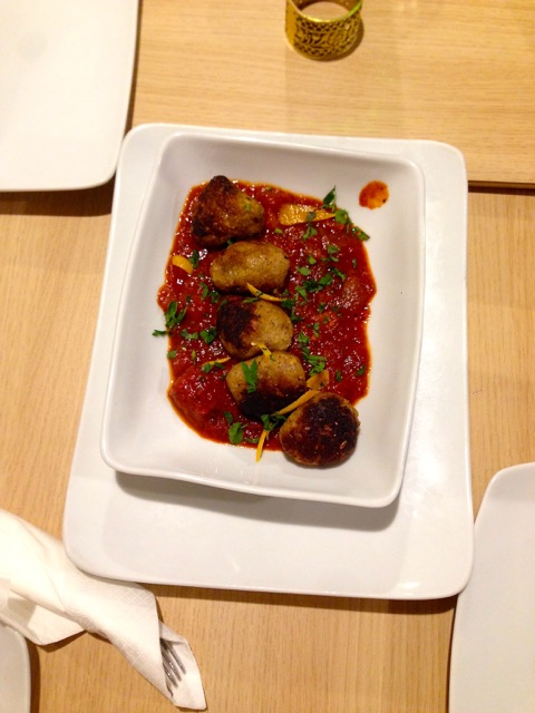 Ping Pong: orange scented meatballs of eggplant and brown rice