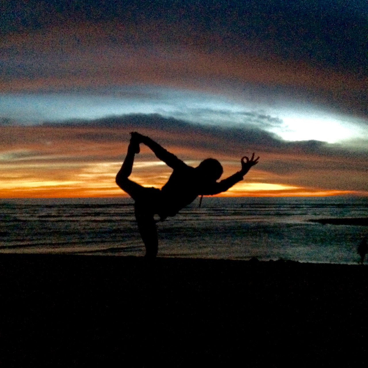 Sunset Yoga at the Beach