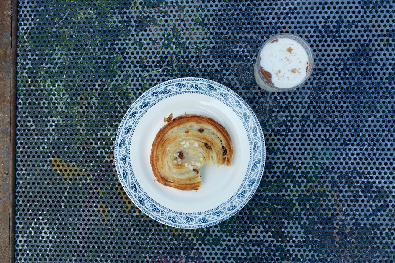 pain aux raisin with goat milk – perfect!