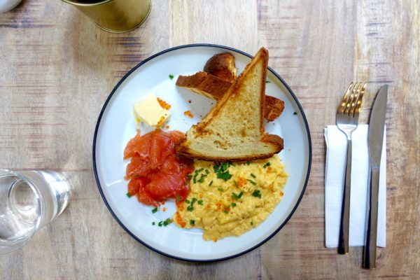 smoked trout and scrambled eggs, Specialty Coffee Shops in Bordeaux