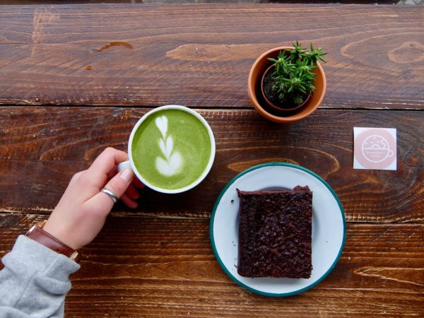 Matcha Latte and Blackbean Brownie, Brammibal's Donuts, Berlin