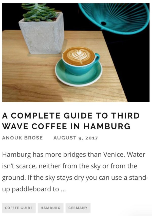 European Coffee Trip Article Screenshots